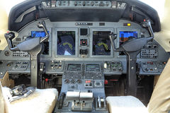 Small jet instrument panel Stock Photos