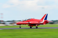 Small jet landing Royalty Free Stock Photography