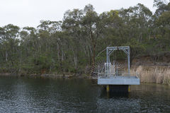 Small Jetty, Barossa Reservoir, Barossa Valley, South Australia Royalty Free Stock Photography