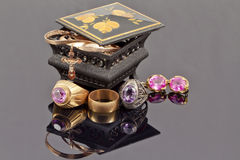 Small jewellery box Stock Photos