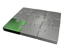 Small jigsaw puzzle. Small rectangular 3d jigsaw puzzle isolated object Royalty Free Stock Photos