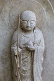 Small Jizo Statues at Hase-dera Temple in Kamakura Stock Photography