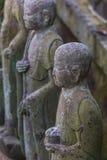 Small Jizo Statues at Hase-dera Temple in kamakura Royalty Free Stock Image