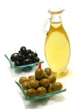 Small jug with olive oil Stock Photography