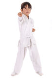 Small karate boy in training Stock Images