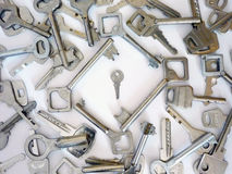 Small key. Alone close closeup door key keys lock macro metal small steel up Stock Images