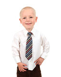 Small Kid in a Button Down Shirt and Tie Stock Image