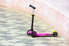 Small kid`s scooter Stock Images