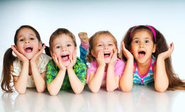 Small kids stock images