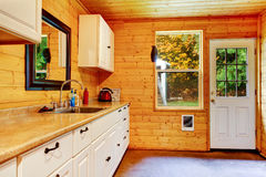 Small kitchen area at the horse ranch in Washington State Royalty Free Stock Photography