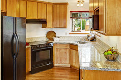 Small kitchen room interior Stock Image