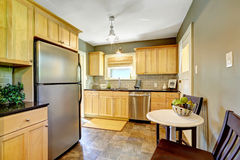 Small kitchen room interior Royalty Free Stock Photos