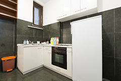 Small kitchen in small apartment Stock Image