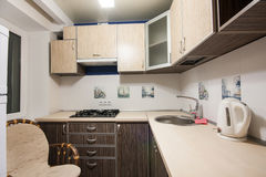 Small kitchenette in a studio Royalty Free Stock Photos