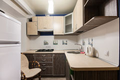 Small kitchenette in a studio Royalty Free Stock Photo