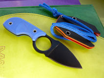 Small knife. For the hidden carrying and a jobbing stock image