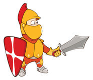 Illustration of a Cute Knight. Cartoon Character Royalty Free Stock Image
