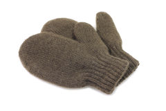 Small knitted woolen vareshek. On a white background Stock Images