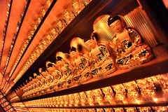 Small korean buddha statues Royalty Free Stock Images