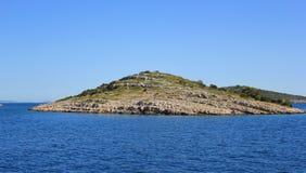 Small Dalmatian islet - Kornati, Croatia, Europe. Little Kornati island in the Adriatic sea, Mediterranean landscape - Dalmatia, Croatia, Europe Royalty Free Stock Photo