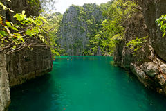 Small lagoon at Coron Island, Philippines Stock Photo