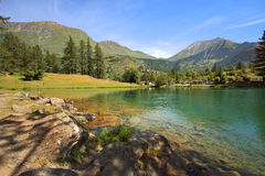 Small lake in Alps. Royalty Free Stock Photography