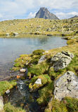 Small lake in the Bearn Pyrenees Royalty Free Stock Photography