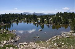 A Small Lake in the Beartooth Mountains stock image