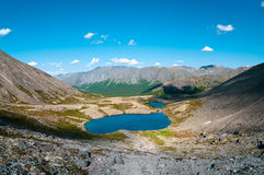 Small lake in big mountain in north of Russia Royalty Free Stock Images