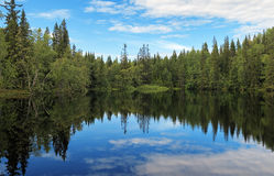 Small Lake on Bolshoy Solovetsky Island, Russia Royalty Free Stock Photo