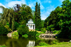 Small lake in the castle garden of Kassel, Germany Royalty Free Stock Photo