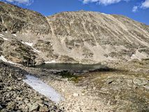 Small lake in Colorado mountains Stock Photography