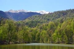 Small lake in Dilijan, Armenia Stock Photo