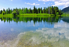 A small lake of the Grand Teton National Park Stock Images