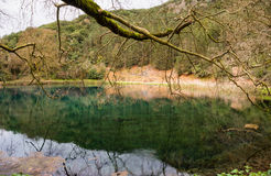 Small lake in Greece Royalty Free Stock Photos