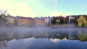 Small lake from Hungary stock footage