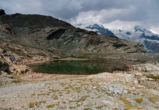 Small lake in the Italian Alps, summer Royalty Free Stock Photo