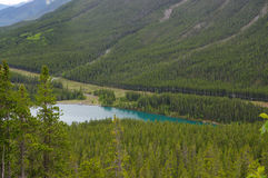 A small lake in Kananaskis, Western Alberta Canada Royalty Free Stock Image