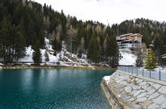 Small lake in Madesimo - Italy Royalty Free Stock Images