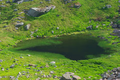 Small Lake on Moskenesoya, Lofoten, Norway Stock Photography