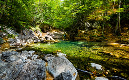 Small lake in mountain. Royalty Free Stock Photography