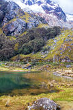 Small Lake and Mountain in Peru Stock Photography