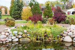 Small Lake in a Neighborhood Park Royalty Free Stock Photo