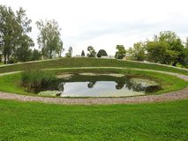 Small lake in park, Lithuania Stock Images