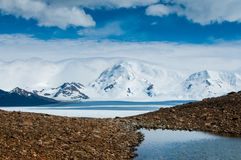 Small lake on the pass in Andes Royalty Free Stock Images