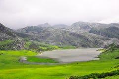 Small lake in the Picos de Europa mountains. Royalty Free Stock Image