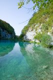 Small lake in the Plitvice national park Stock Images