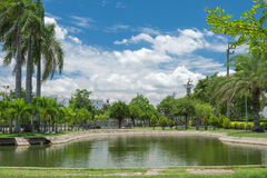 Small lake in public garden background. Small lake in public garden day scene background royalty free stock photography
