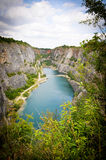 Small lake in a quarry Stock Images