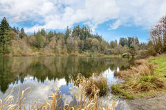 Small lake Rasmussen, Duval. WA state. USA Stock Photo
